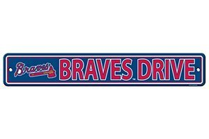 Atlanta Street Braves Sign - Fremont Die Consumer Products F60315 Styrene Street Sign - Atlanta Braves