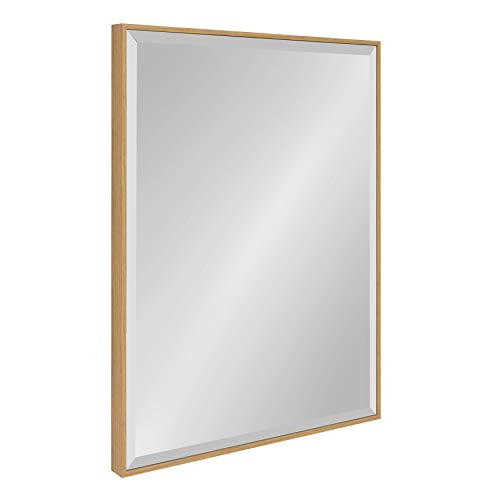 Kate and Laurel Rhodes Framed Wall Mirror 22.75x28.75 - Mirrors Teak Framed Bathroom