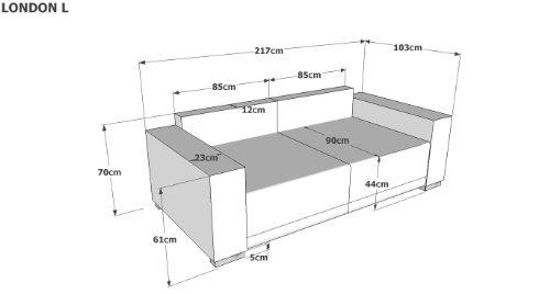 Sofa Größe b big sofa struktur grau 287x103 cm amazon de