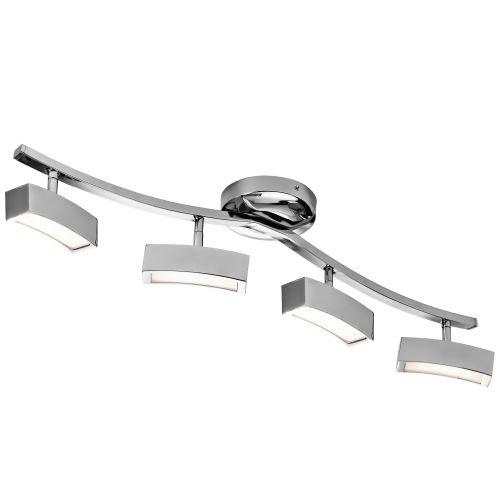 Elan Lighting Landon 4 Lights LED Track Light in Chrome