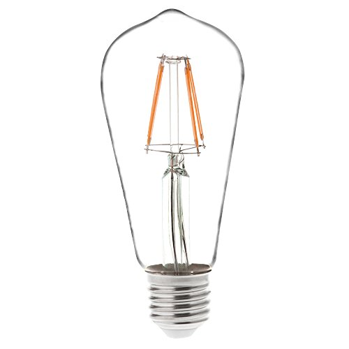 CBConcept 4-Pack, 4 Watt, 360 Lumen,ST18 E26/E27 Edison Style LED Vintage Antique Filament Bulb,Dimmable,Exclusive Candlelight Warm Glow 1800K ,40W Equivalent, Filament Replacement Incandescent Bulbs - Exclusive Candle