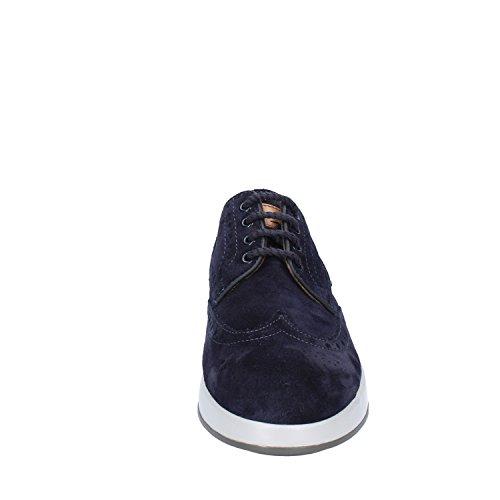 blu pelle Santoni eleganti Scarpe scamosciata in XwwP4ApqU
