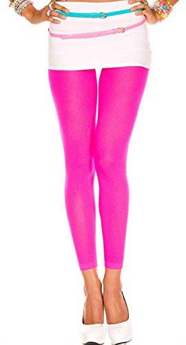 (7477) Hot Pink, One Size Fancy Opaque Capri ()