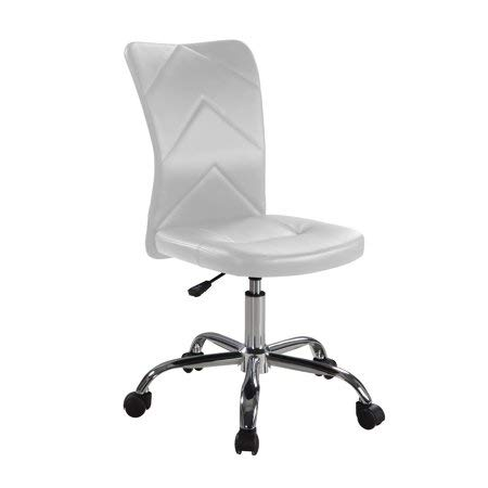 Mainstay Chevron Adjustable Height Armless Task Chair, White (Z-line Chair Task Designs)