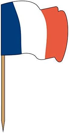 Garcia de Pou 144/unit/é Drapeau Picks France dans Une bo/îte en Bois Assortis 4/x 2.5/x 6.5/cm