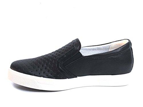 IGI&Co 1147300 Sneakers Slip On Mocassini Scarpe Basse Donna in Pelle Nero Schwarz