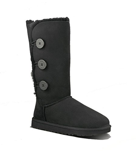 Australia Womens Bailey Button Triplet Boot,Black,37 M EUR/6 B(M) US by UGG