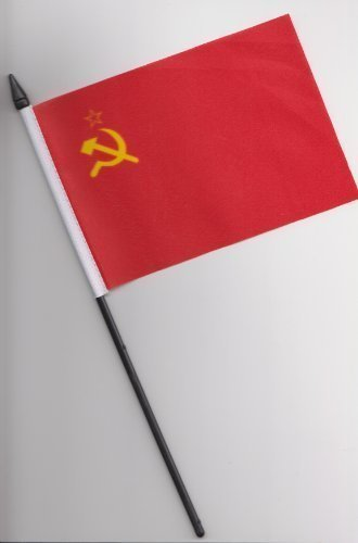 USSR Russia Hammer and Sickle Hand Flag 25cm by 1000 Flags Sickle Flag