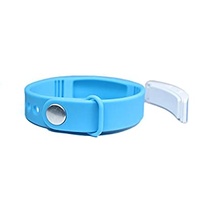 W5 Smart Watch Wristband Pedometer Step Counter Walking Distance Calorie Counter Measure Activity Tracker Thermometer Bracelet (Blue)
