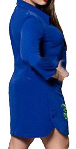 Spostamento donne Vestito Ricamato Bavero Da Coolred Floreale Stampato Pattern1 Affari Novità aXW0waqd1
