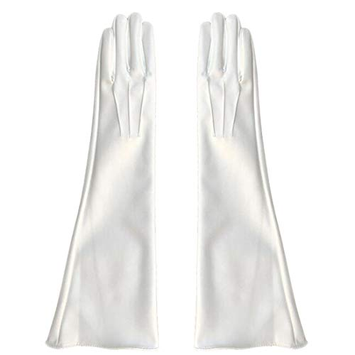 Women White Long Gloves...