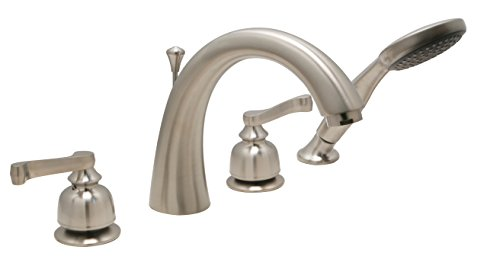 (Huntington Brass S7420702 Sienna Roman Tub Filler (4 Piece), PVD Satin Nickel Finish)