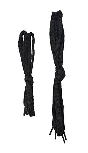 Portwest FL01 - STEELITE Cordones de 90 cm (12 pares), color Negro Negro