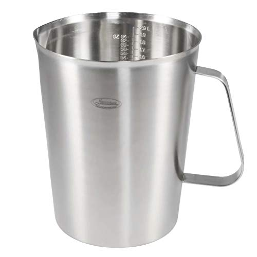 Measuring Cup, [Upgraded, 3 Measurement Scales, Including Cup Scale, ML Scale, Ounce Scale], Newness Stainless Steel Measuring Cup with Marking with Handle, 64 Ounces (2.0 Liter, 8 Cup) by Newness Focus On Stainless Steel