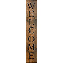 Welcome Rustic BARN Wood Pallet Sign - Welcome. 40 x 7.5 Handcrafted Aged Natural Wall Decor with Black Quote That Will Look Beautiful in Your Family Home Walls, entryway or as a Housewarming Gift