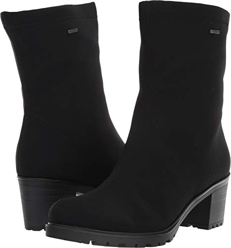 ara Women's Mercy Mid Calf Boot, Black Fabric, 5 Medium UK (7.5 US)