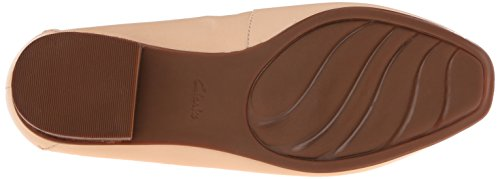 Clarks mujer Keesha Luca Slip-On Loafer Nude Leather