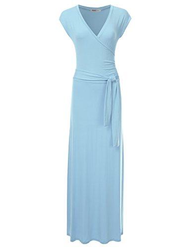 light blue plus size maxi dress - 1