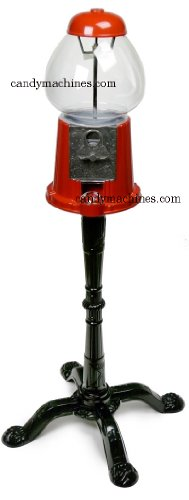 Bubble Gum Dispenser - Ford Gumball Machine - Red, King Size with Stand, 1 gum ball machine