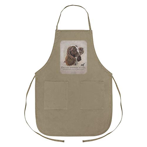 GRAPHICS & MORE English Springer Spaniel Dog Breed Apron with Pockets