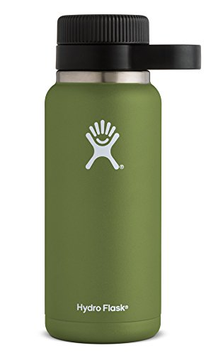 Hydro Flask 32 oz Beer Growler | Stainless Steel & Vacuum Insulated | Easy-Carry Handle | Olive