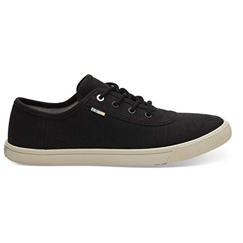 TOMS Black Heritage Canvas Women's Carmel Sneakers Topanga