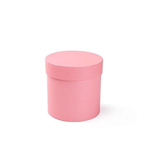 BBC Mini Flower Bouquet Box Florist Shop Supplies Gift Packaging With Lid 1 Pcs (Pink)