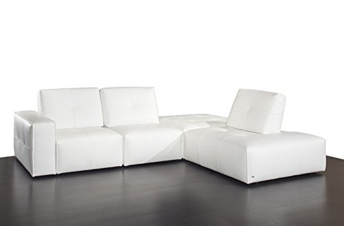 Ibiza White Top Grain Leather Modular Sectional Sofa by Nicoletti