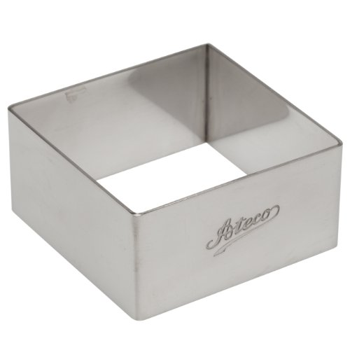 Ateco 4904 Square Stainless Steel Form, 2.75 by 1.25-Inches High