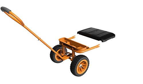 WORX WA0228 Aerocart Wheelborrow Wagon Kit, 19' x 10' x 21', Orange, Black, and Silver
