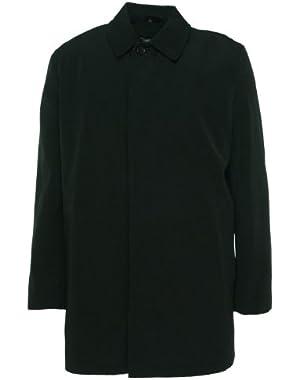 Men`s Coat Fratelli Slim Fit Trench Rain Coat Black (X-...