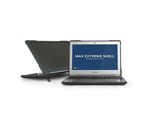MAXCases Extreme Shell for Samsung Chromebook 3, Protective Heavy Duty & Durable Slim Laptop Cover - Gray (Bumper Std Rear)