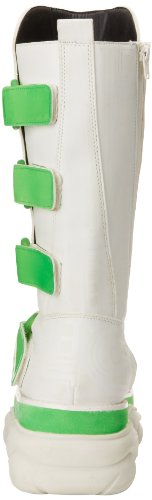 Demonia NEPTUNE-309UV Wht Pu-UV Lime Size UK 6 EU 39