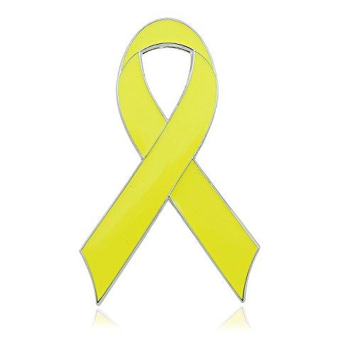 CMAJOR Yellow Awareness Flat Enamel Ribbon Pins