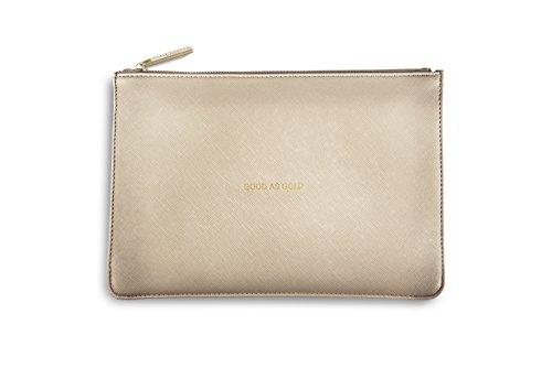 Katie Loxton perfecto estuche embrague bolsa de color Dorado Metálico–Good As Gold