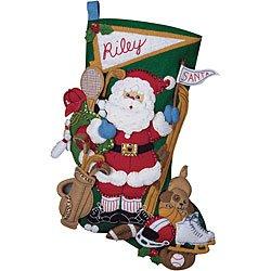 Felt Stocking Kit Santa - Bucilla Sports Santa Stocking Felt Applique Kit