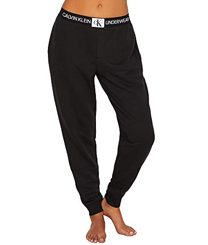 Calvin Klein Women's Monogram Lounge Jogger, Black, Medium