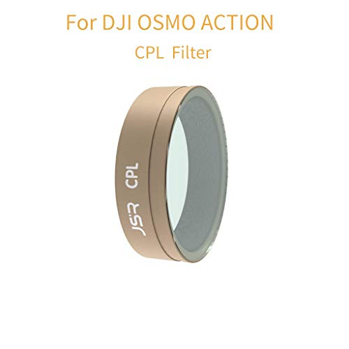 (m·kvfa Camera Lens Filters CPL ND4 ND8 ND16 8PL 16PL 32PL Camera Lens Filters for DJI OSMO Action (CPL Filters))