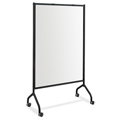 Safco Products 8511BL Impromptu Full Whiteboard Screen, 42''W x 21 1/2''D x 72''H, Black by Safco Products