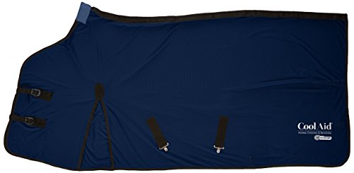 CoolAid Animal Cooling and Recovery Equine Cooling Blanket, Navy, Medium by Coolaid