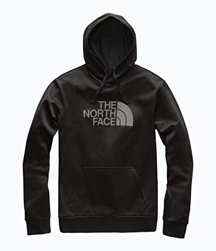 The North Face Men's Surgent Pullover Half Dome Hoodie 2.0, TNF Black/Silver Reflective, Size L