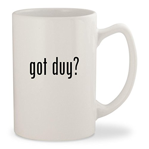 got duy? - White 14oz Ceramic Statesman Coffee Mug Cup (Videos Books Gear Scuba)