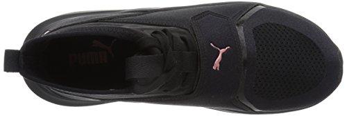 PUMA Womens Phenom Wn Sneaker, Black Black, 9 M US