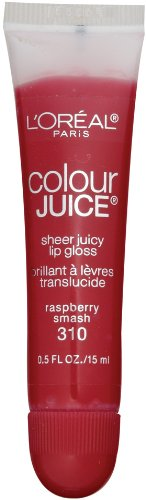 L'Oreal Paris Colour Juice Sheer Juicy Lip Gloss, Raspberry Smash, 0.5-Fluid Ounce (Loreal Colour Juice Sheer)