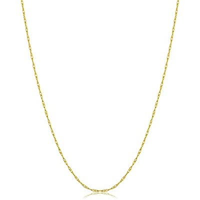 Nice Kooljewelry Solid 14k Yellow, White or Rose Gold 0.8mm Rope Chain (14, 16, 18, 20, 22, 24 or 30 inch) for sale