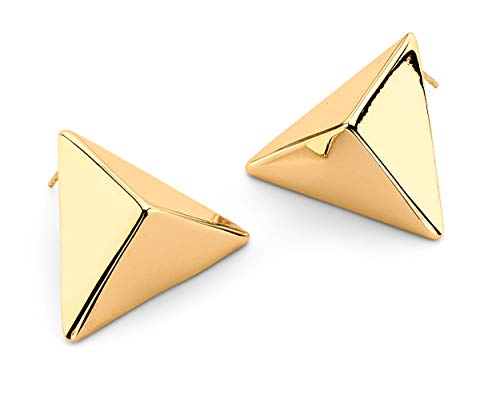 7 Charming Sisters Pyramid Studs for Women | Gold Earring Studs | Geometric Earrings | Gold Earrings | Earrings Studs | Pyramid Earrings for Women | Staple Earrings