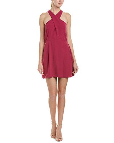Bobi Womens Dress (Bobi Womens Crossfront A-Line Dress, XS, Purple)