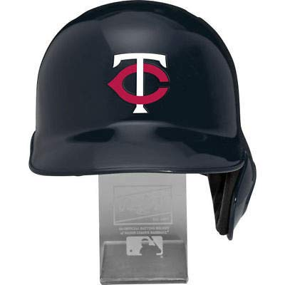 (Rawlings MLB Minnesota Twins Replica Batting Helmet with Engraved Stand, Official Size, Blue)