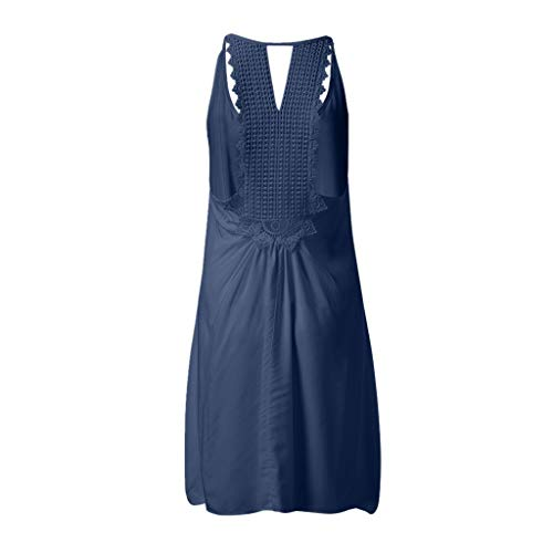 (Dresses For Women Fashion Sleeveles sAbove KneeTank Tops Mini Dress (L, Blue))