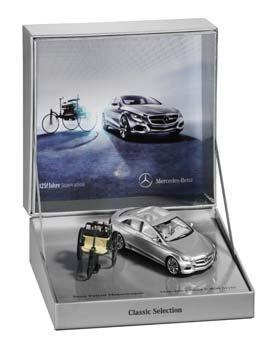 Doppelset 125! ANNI INNOVAZIONE, BENZ BREVETTO Motore Auto - F 800 STYLE VERDE / Argento, Minimax, 1:43 Daimler AG